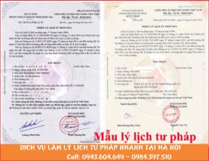 Dịch vụ làm lý lịch tư pháp nhanh tại Hà Nội - 0984.397.510