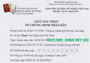 Dịch vụ làm giấy xác nhận 2 số cmnd - thẻ căn cước là 1 - 0984.397.510