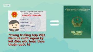 Thẻ căn cước công dân có thể thay thế hộ chiếu trong trường hợp nhất định